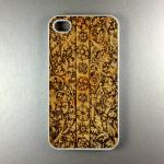 Iphone 4 Case - Carved Wood..
