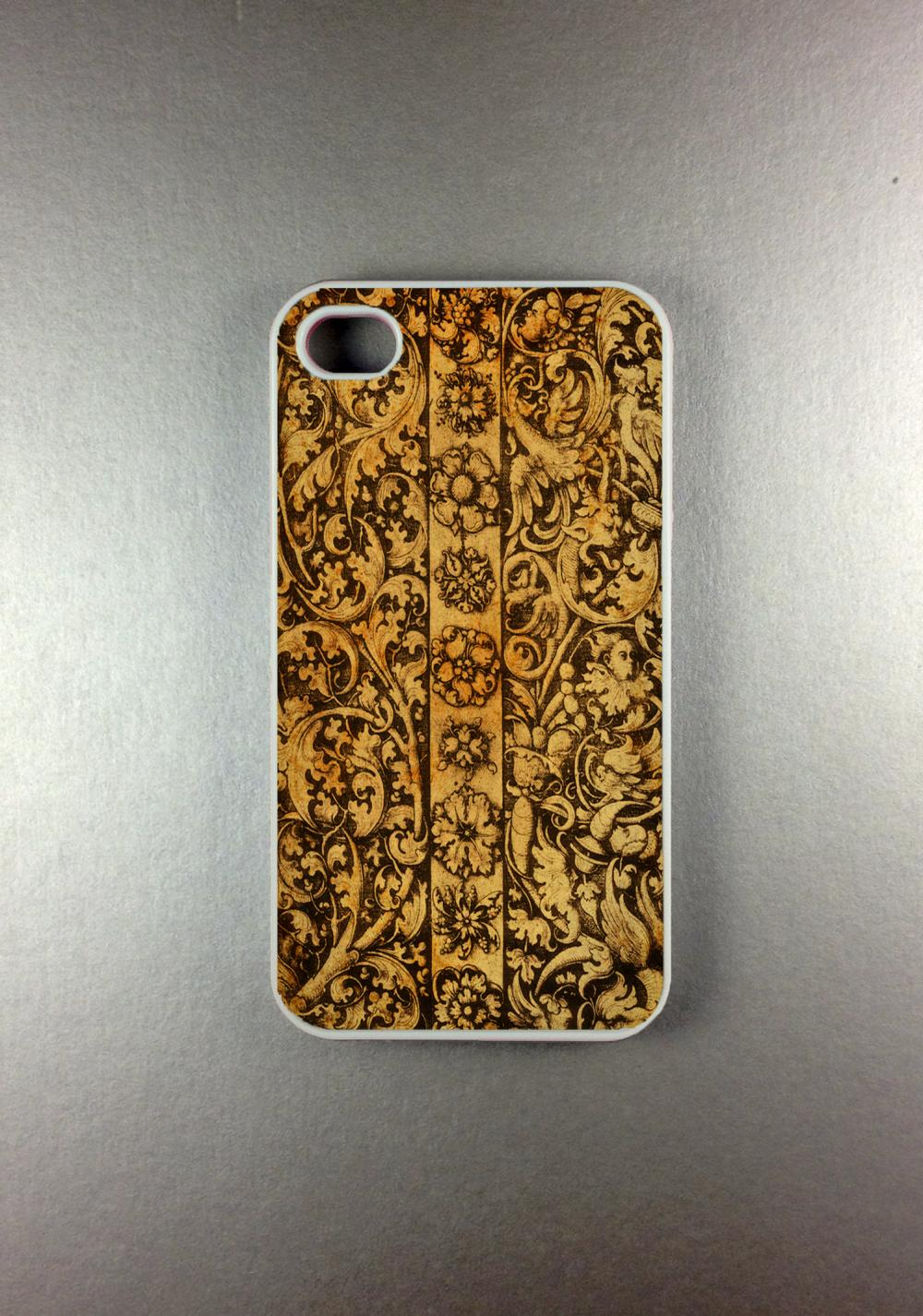 Iphone 4 Case - Carved Wood Iphone 4s Case, Iphone Case, Iphone 4 Cover