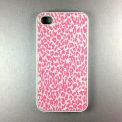 Iphone 4 Case - Pink Leopard Iphone 4s Case, Iphone Case, Iphone 4 Cover