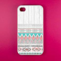 Iphone 4 Case - Aztec Pattern Iphone 4s Case, Iphone Case, Iphone 4 Cover
