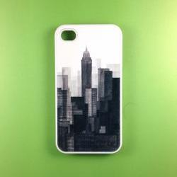 Iphone 4 Case - Vintage NY City Iphone 4s Case, Iphone Case, Iphone 4 Cover